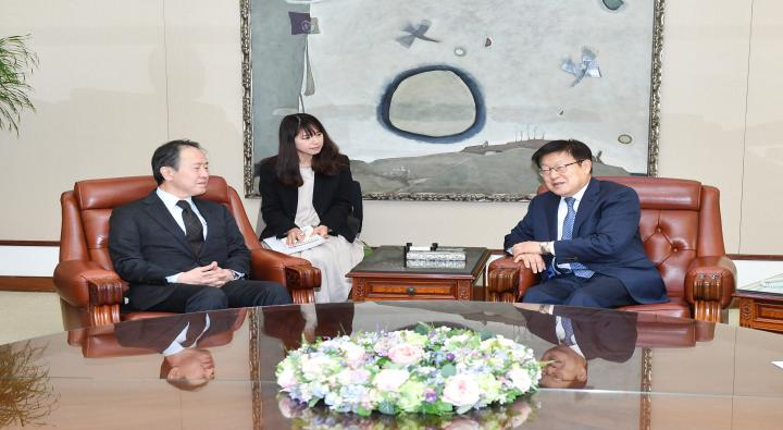 A Visit by Tomita Koji, Newly Appointed Japanese Ambassador to Korea